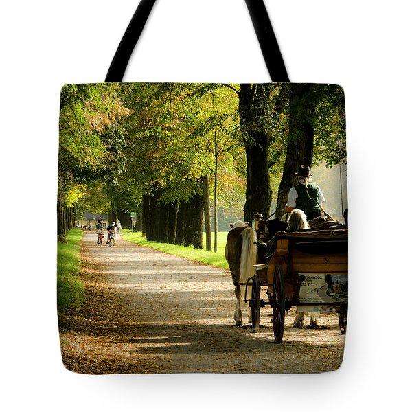 Carriage Ride In Hellbrunn Tote Bag