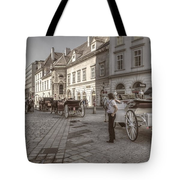 Carriages Back To Stephanplatz Tote Bag