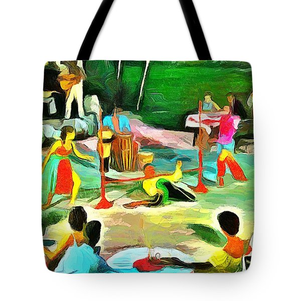 Carribean Scenes - Calypso And Limbo Tote Bag