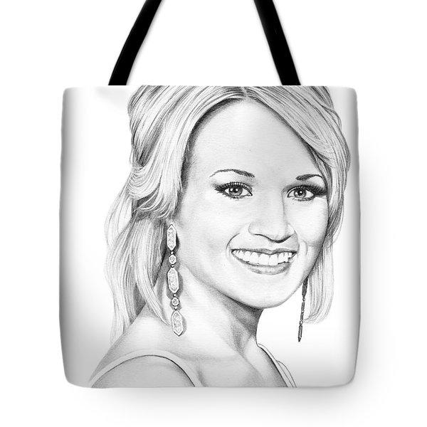 Carrie Underwood Tote Bag by Murphy Elliott