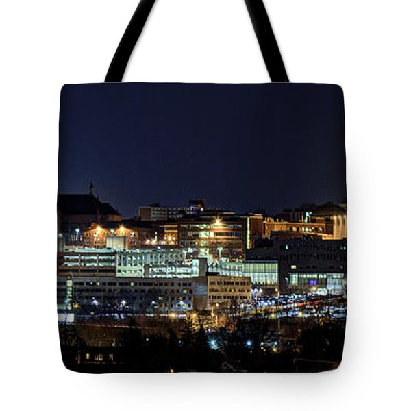 Carrier Dome And Syracuse Skyline Panoramic View Tote Bag