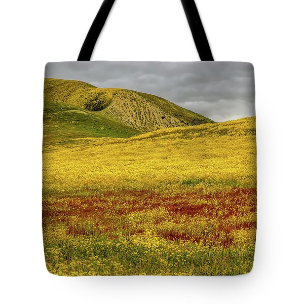 Tote Bag featuring the photograph Carrizo  Plain Super Bloom 2017 by Peter Tellone