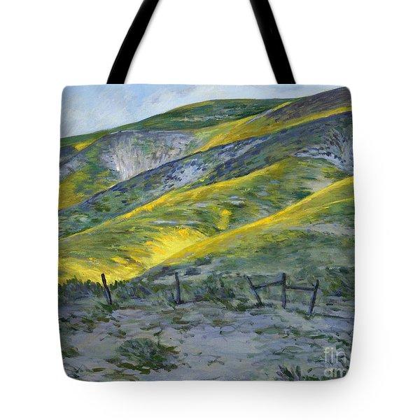 Carrizo Spring Mustard Tote Bag