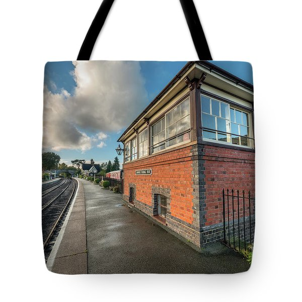 Carrog Signal Box Tote Bag