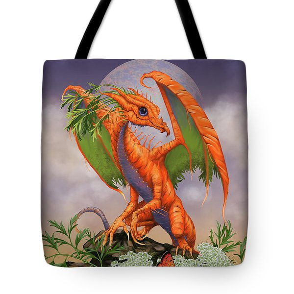 Tote Bag featuring the digital art Carrot Dragon by Stanley Morrison
