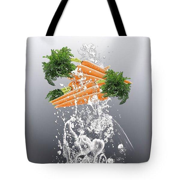 Carrot Splash Tote Bag