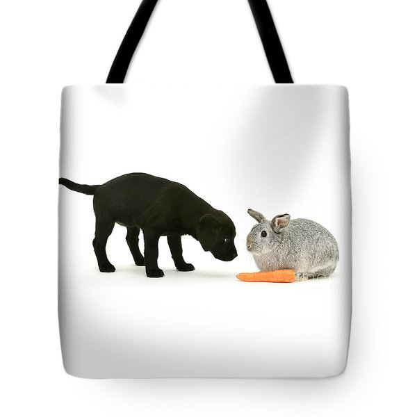 Tote Bag featuring the photograph Carrots Are For Pups, Too by Warren Photographic