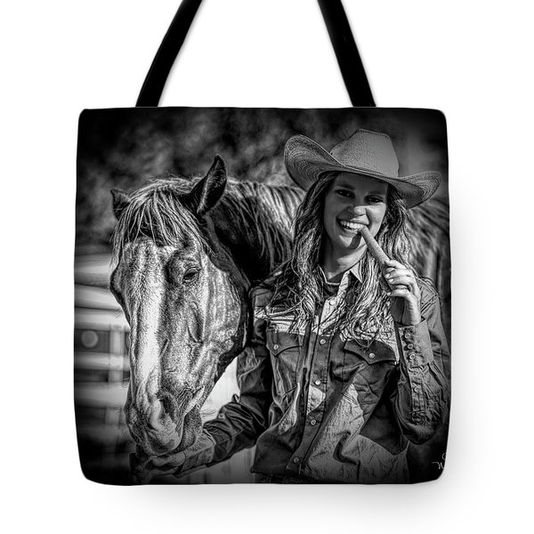 Carrots Cowgirls And Horses  Black Tote Bag