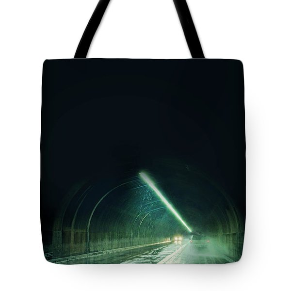 Cars In A Dark Tunnel Tote Bag by Jill Battaglia
