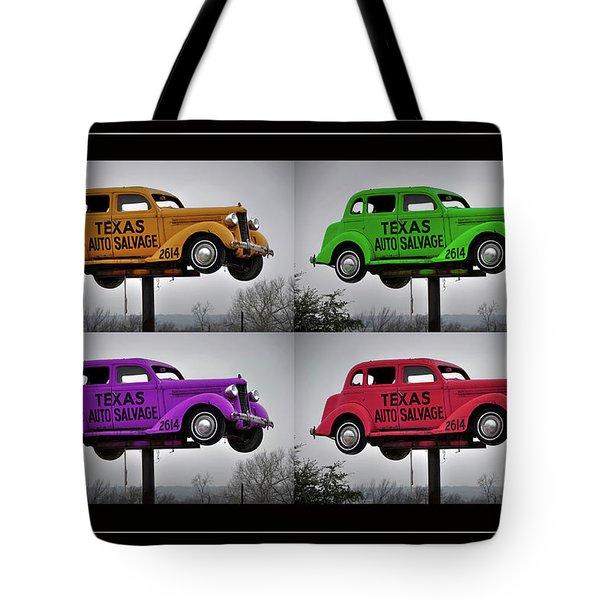 Cars Tote Bag by Joan Carroll