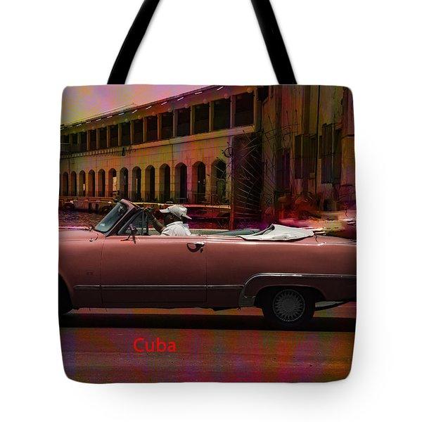Cars Of Cuba Tote Bag by Will Burlingham