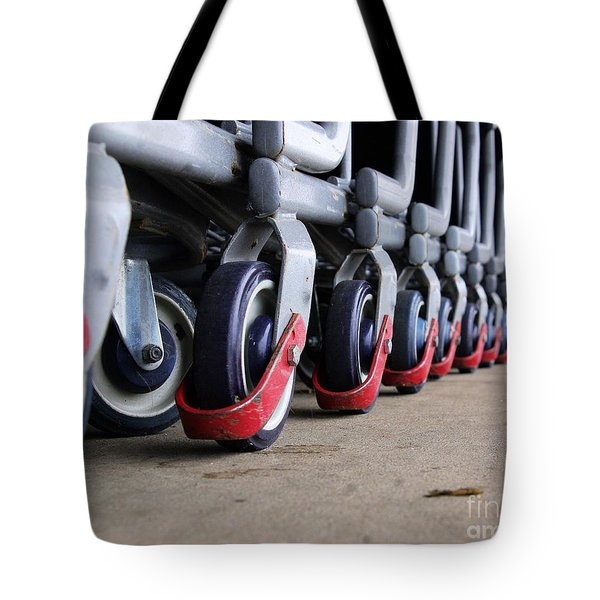 Cart Wheels Tote Bag
