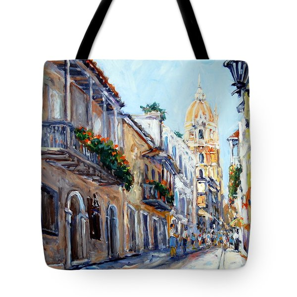 Cartagena Colombia Tote Bag by Alexandra Maria Ethlyn Cheshire