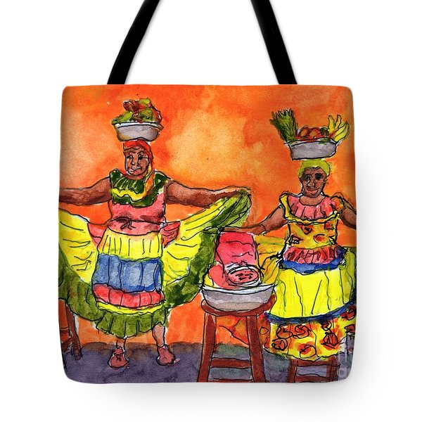 Cartagena Fruit Venders Tote Bag by Randy Sprout