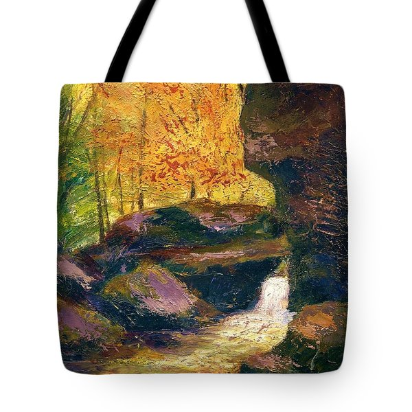 Tote Bag featuring the painting Carter Caves Kentucky by Gail Kirtz