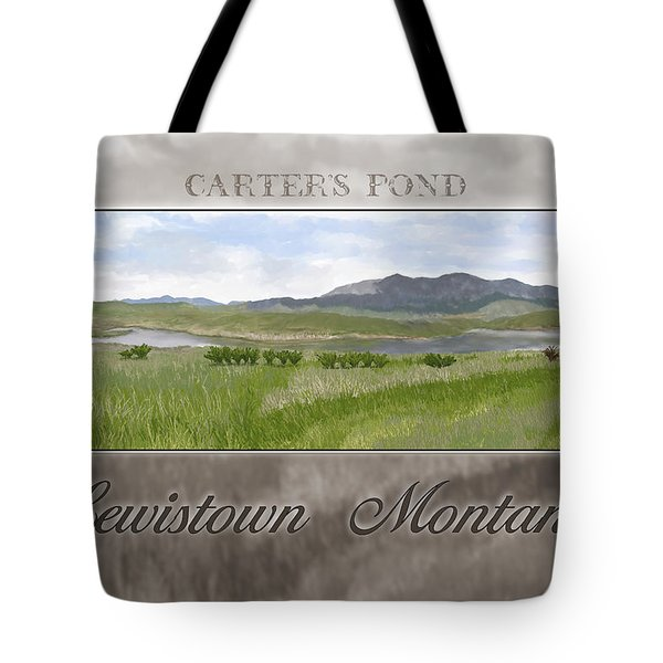 Tote Bag featuring the digital art Carter's Pond by Susan Kinney