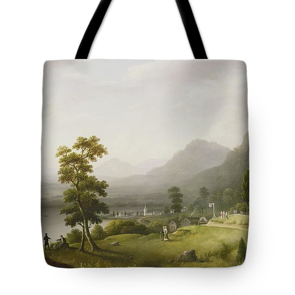 Carter's Tavern At The Head Of Lake George Tote Bag by Francis Guy
