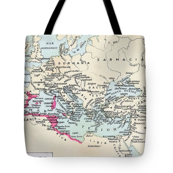 Carthaginian Colonies And Area Of Tote Bag