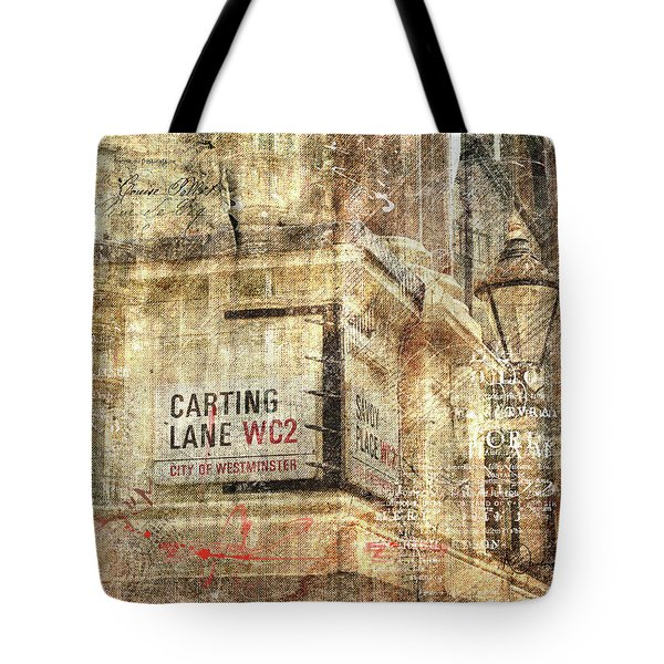 Carting Lane, Savoy Place Tote Bag
