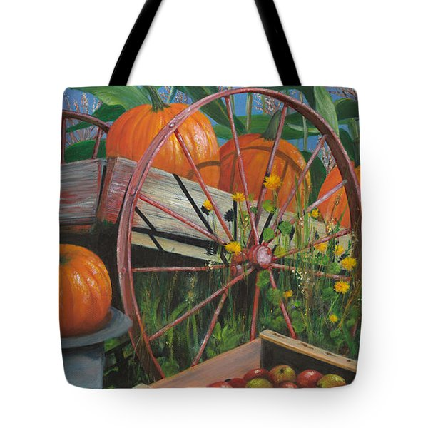 Cartloads Of Pumpkins Tote Bag by Jeanette French