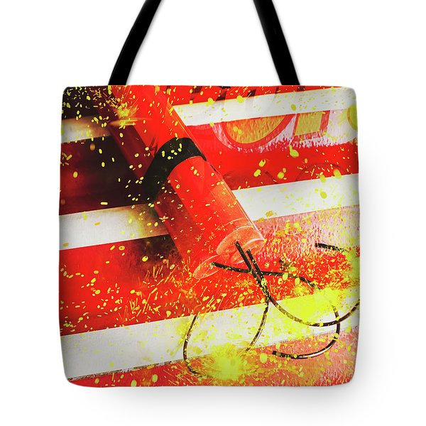 Cartoon Bomb Tote Bag