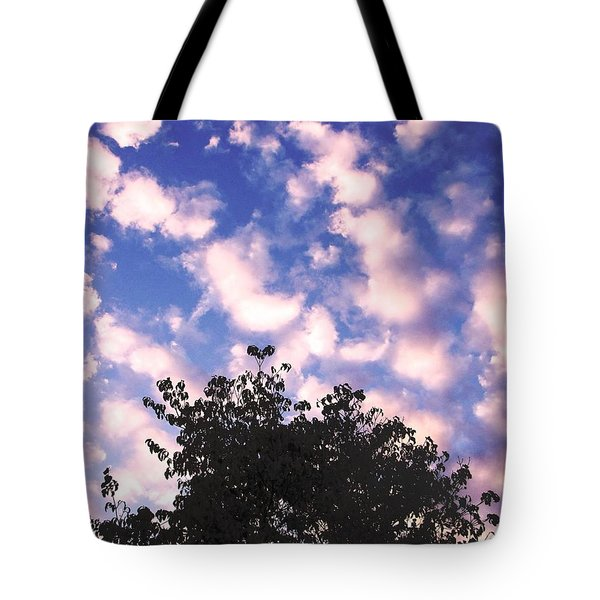 Tote Bag featuring the photograph Cartoon Clouds by Melissa Stoudt