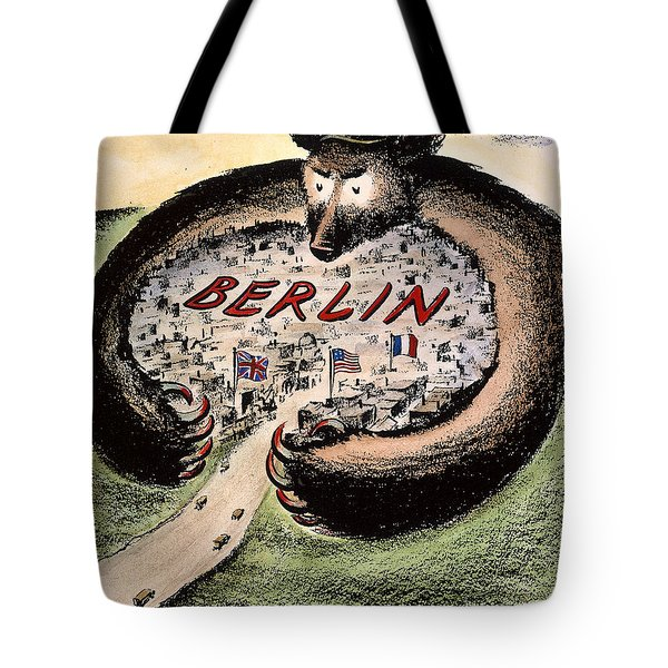Cartoon: Cold War Berlin Tote Bag by Granger