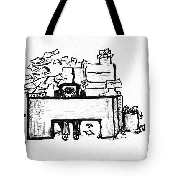 Cartoon Desk Tote Bag