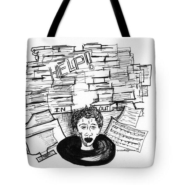 Cartoon Inbox Tote Bag