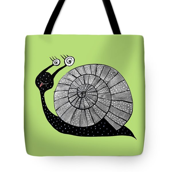 Cartoon Snail With Spiral Eyes Tote Bag