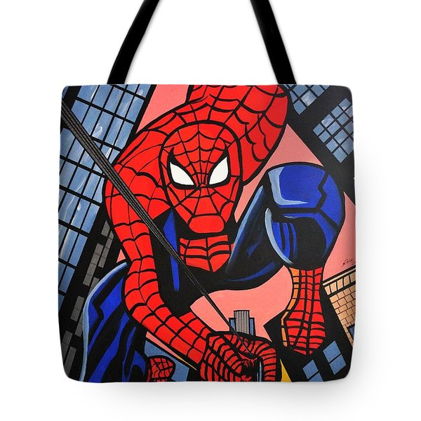 Cartoon Spiderman Tote Bag
