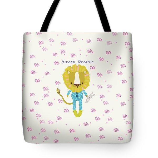 Cartoon Sweet Dreams Lion Tote Bag