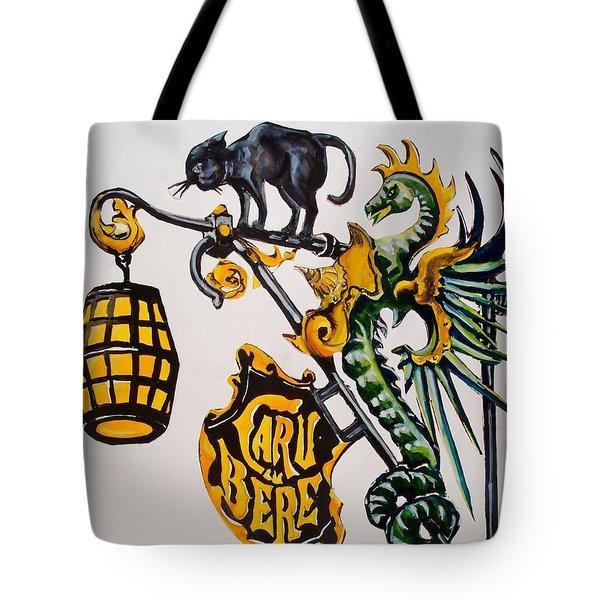 Caru Cu Bere - Antique Shop Sign Tote Bag