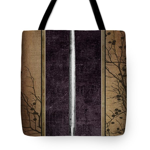 Carving Set Sharpener Triptych 3 Tote Bag