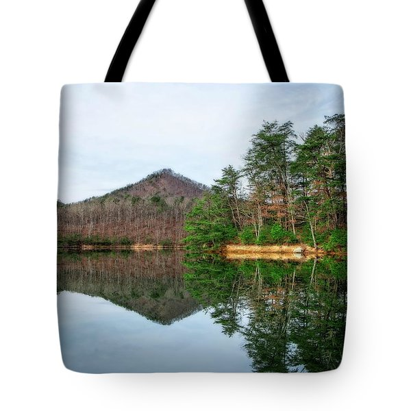 Tote Bag featuring the photograph Carvins Cove  by Alan Raasch