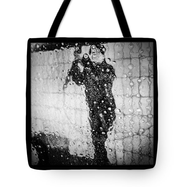 Carwash Cool Black And White Abstract Tote Bag