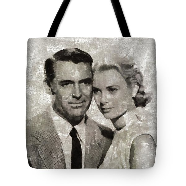 Cary Grant And Grace Kelly, Hollywood Legends Tote Bag