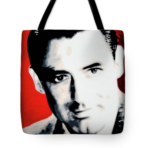Cary Grant Tote Bag by Luis Ludzska
