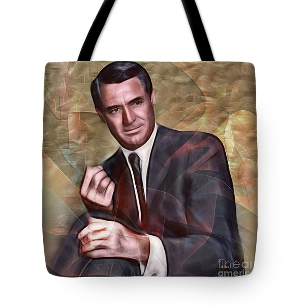 Cary Grant - Square Version Tote Bag by John Robert Beck