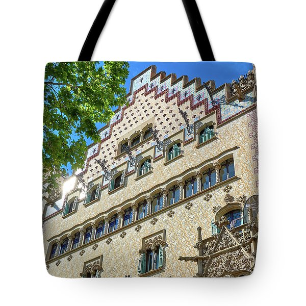Tote Bag featuring the photograph Casa Amatller In Barcelona by Eduardo Jose Accorinti