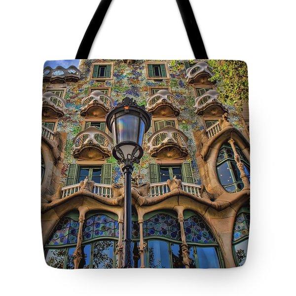 Casa Batllo Gaudi Tote Bag by Henry Kowalski