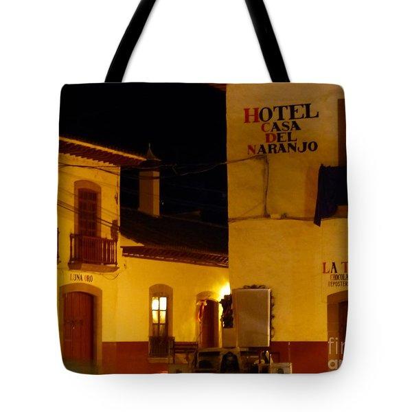 Casa Del Naranjo Tote Bag