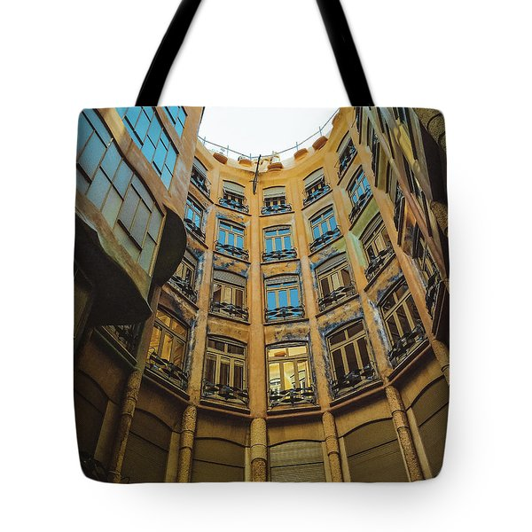 Tote Bag featuring the photograph Casa Mila - Barcelona by Colleen Kammerer