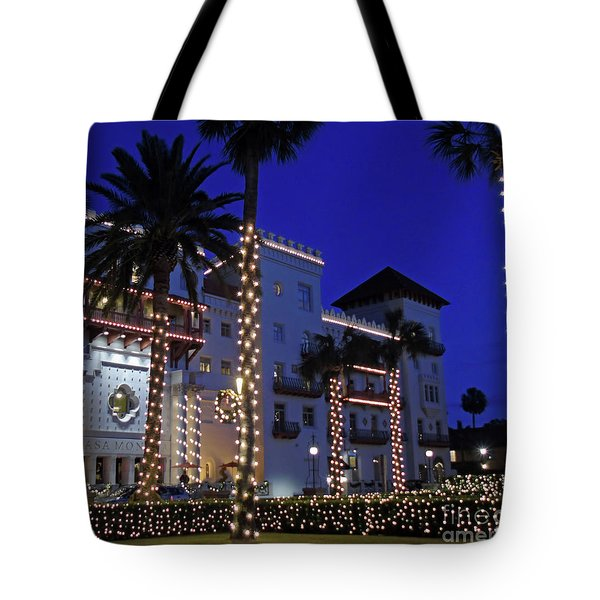 Casa Monica Inn Night Of Lights Tote Bag