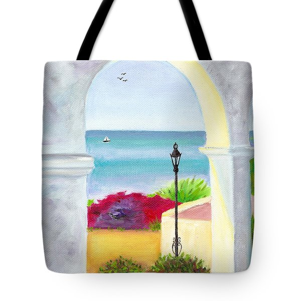 Casa Romantica View Tote Bag