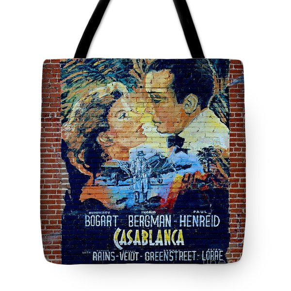 Tote Bag featuring the photograph Casablanca Mural 2013 by Padre Art