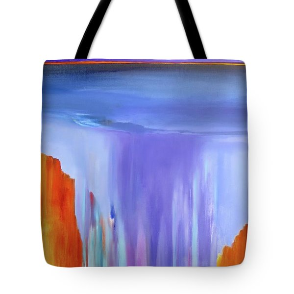 Tote Bag featuring the painting Casade by Jo Appleby