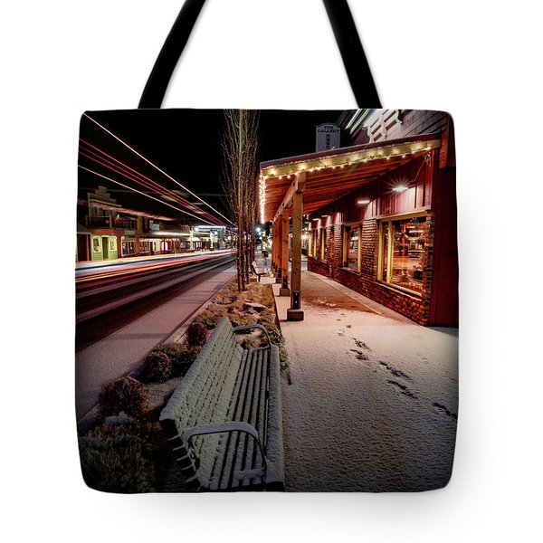 Tote Bag featuring the photograph Cascade Avenue by Cat Connor