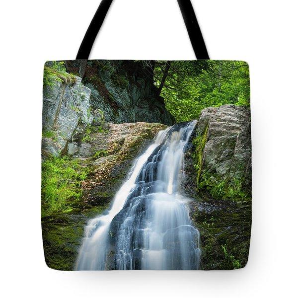 Cascade Falls In South Portland In Maine Tote Bag