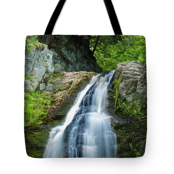 Tote Bag featuring the photograph Cascade Falls In South Portland In Maine by Ranjay Mitra